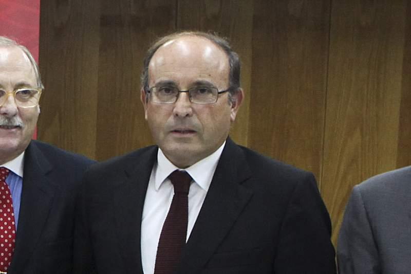 Varandas Fernandes com Luís Filipe Vieira e vários elementos da equipa do presidente do SL Benfica