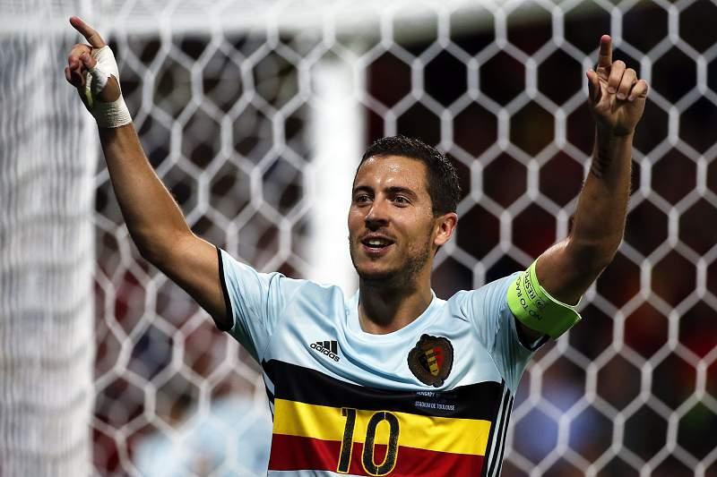 Eden Hazard marcou um dos golo da Bélgica no triunfo por 4-0 sobre a Hungria