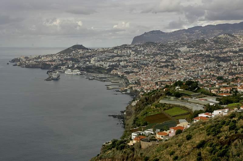 Vista geral da Cidade do Funchal