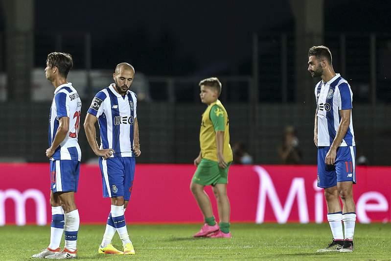 FC Porto desolado após empate com Tondela