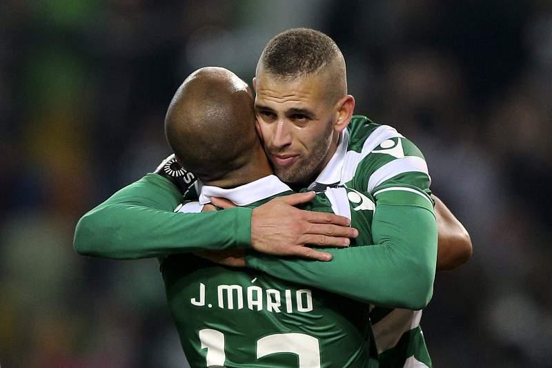 João Mário e Slimani