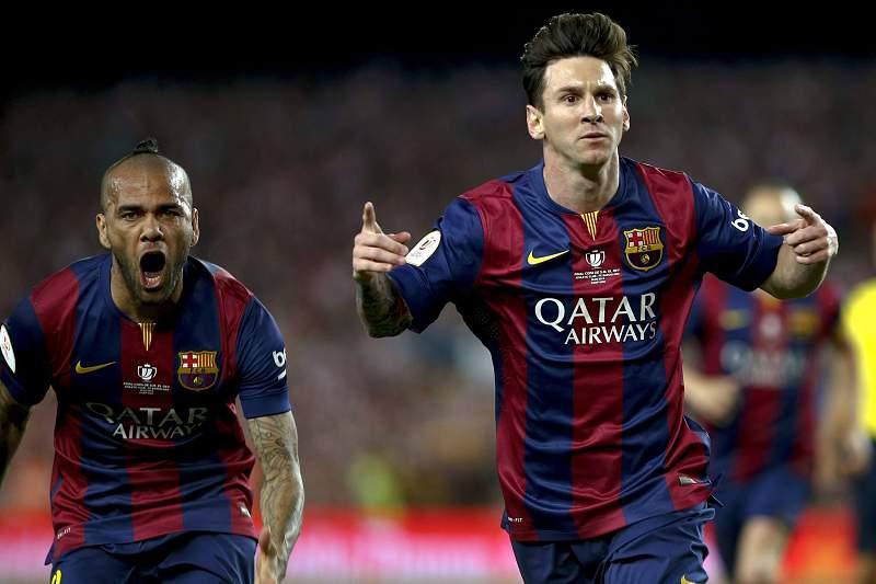 Messi e Dani Alves