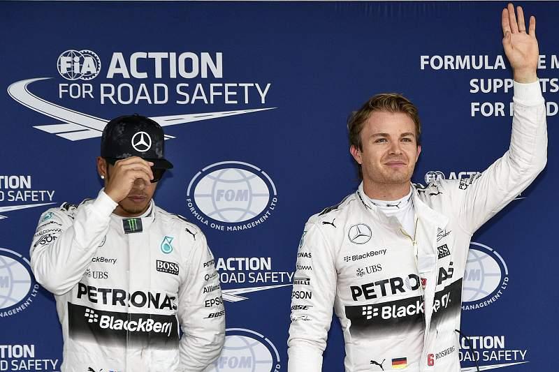 Lewis Hamilton e Nico Rosberg, pilotos da Mercedes