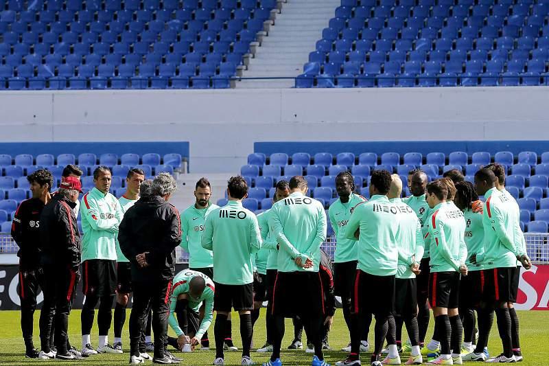 Treino da seleção de Portugal