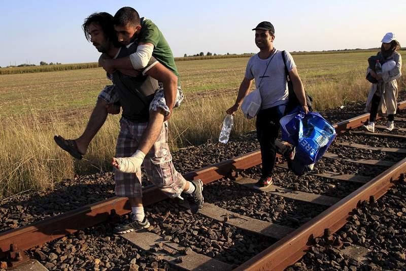 Migrantes sírios procuram chegar a Alemanha