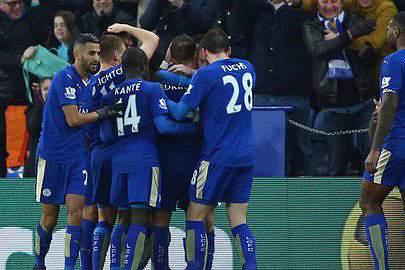 Jogadores do Leicester euf