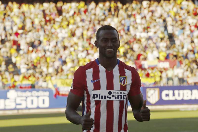 Atletico Madrid's new Colombian striker Jackson Martinez