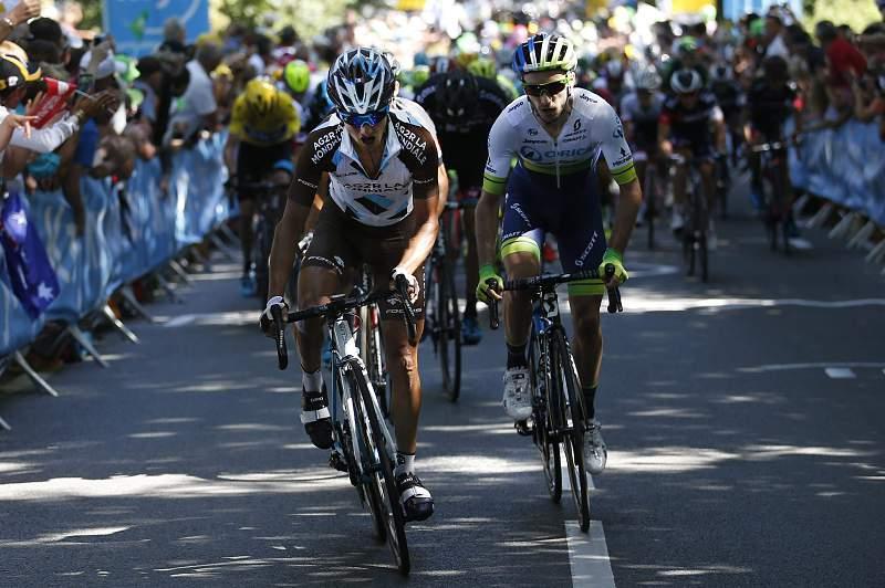 O momento mau de Nibali no dia mais feliz de Alexis Vuillermoz