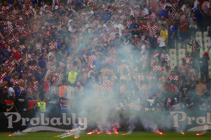 Croácia - República Checa: Adeptos croatas