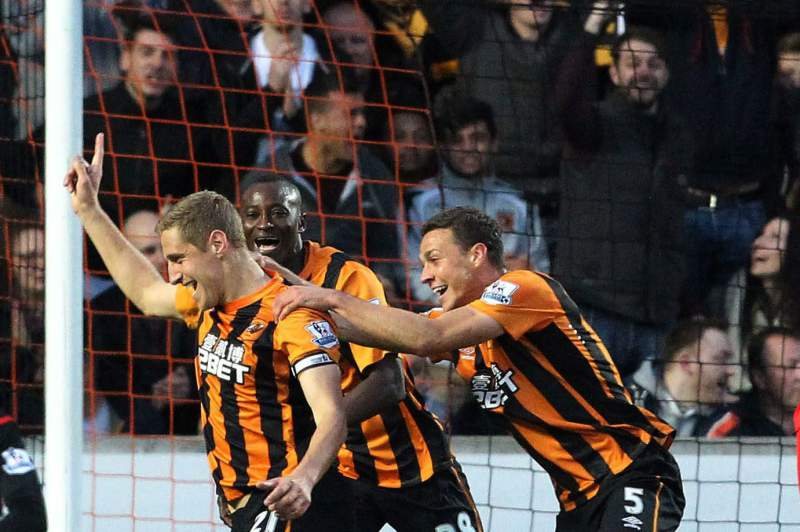 Hull City festeja golo