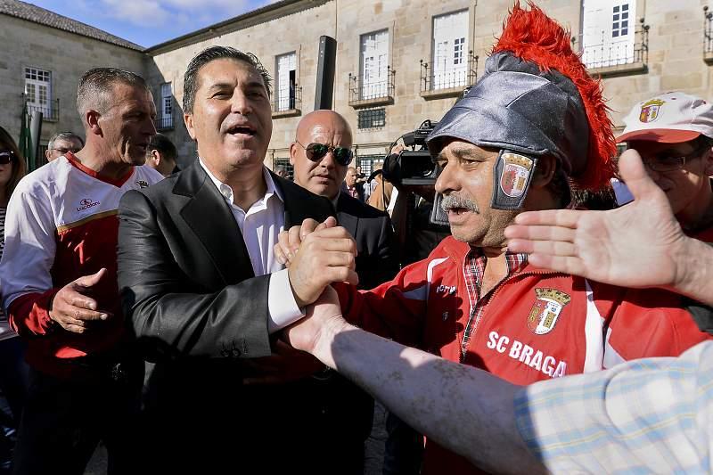 Apresentação de José Peseiro como novo treinador do Sporting de Braga