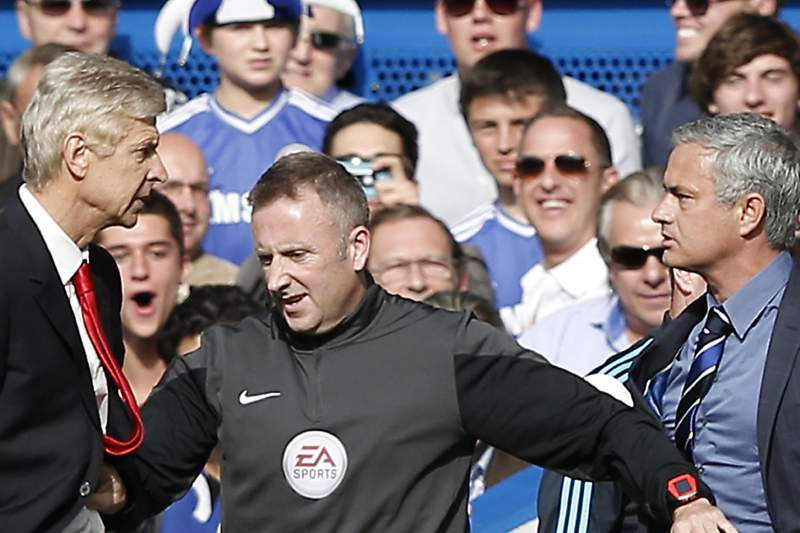 Wenger e Mourinho em confronto