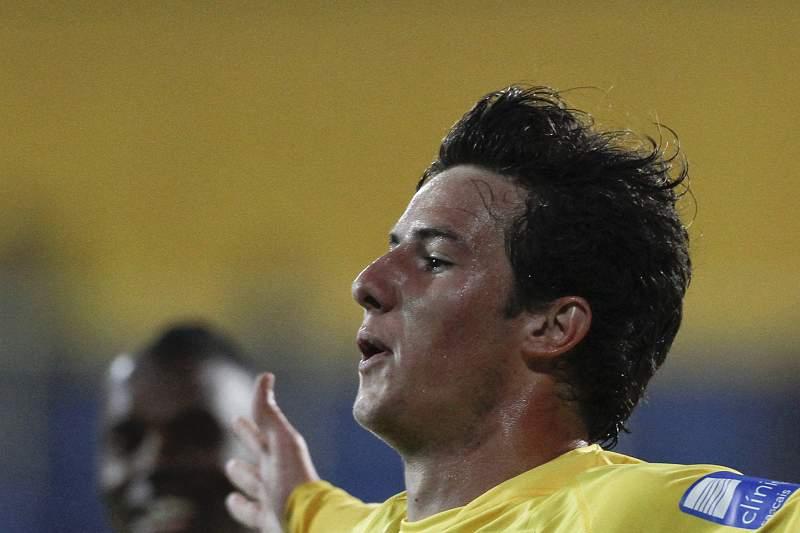 Ricardo Vaz festeja após marcar um golo