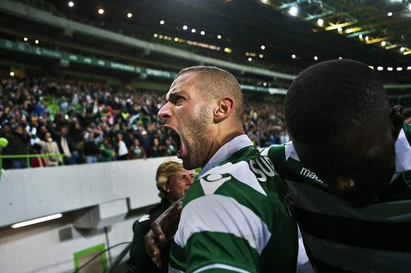 Slimani anota o 2-1 no Sporting-Benfica