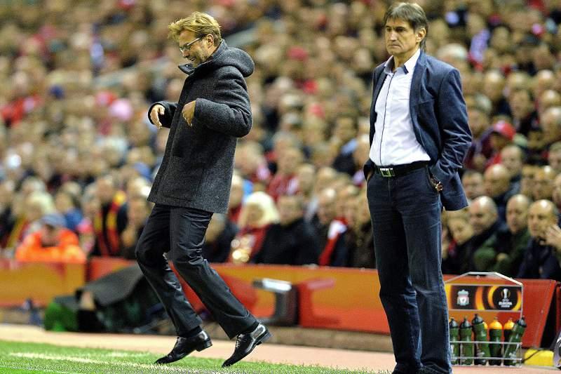 Jurgen Klopp festeja golo do Liverpool