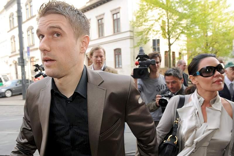 Ivan Klasnic e a sua esposa