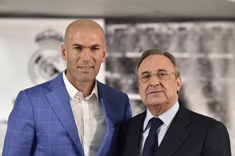 Zidane e Florentino Pérez