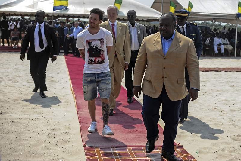 Messi no Gabão