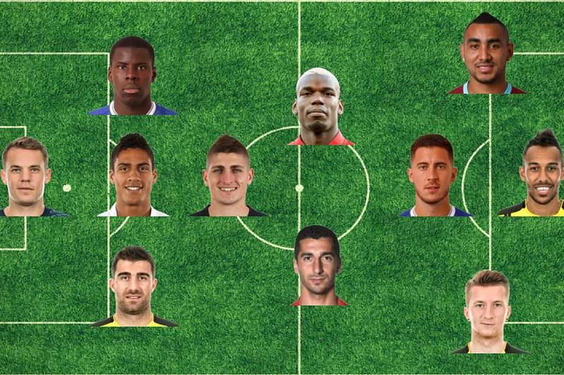 Onze ideal de Aubameyang não tem Ronaldo nem Messi, mas tem Aubameyang