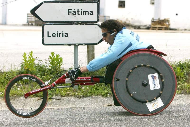 Mário Trindade na viagem de Vila Real a Fátima em cadeira de rodas