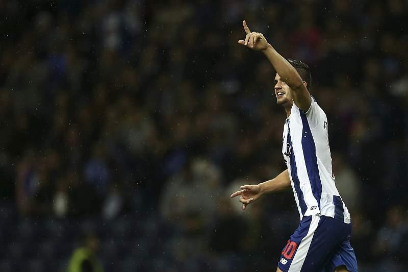 André Silva celebra o golo apontado ao Arouca