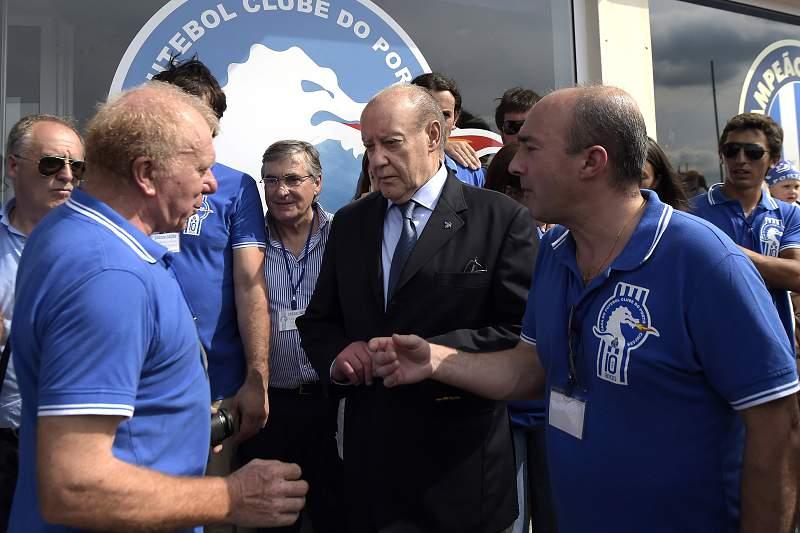 O presidente do Futebol Clube do Porto (FCP), Jorge Nuno Pinto da Costa, durante as comemorações do 10º aniversário da casa do clube, em Cinfães