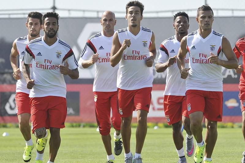 Treino do SL Benfica no Seixal