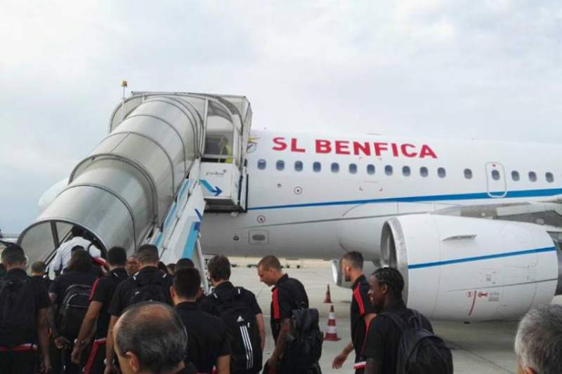Benfica já está a caminho do Canadá