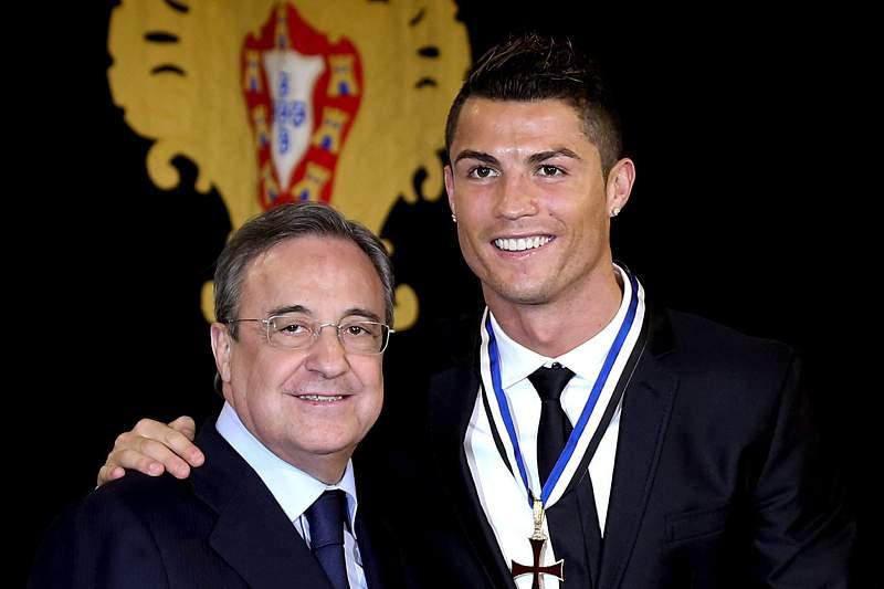 Florentino Pérez e Cristiano Ronaldo
