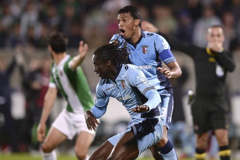 Éder, do SC Braga, festeja o golo frente ao Rio Ave