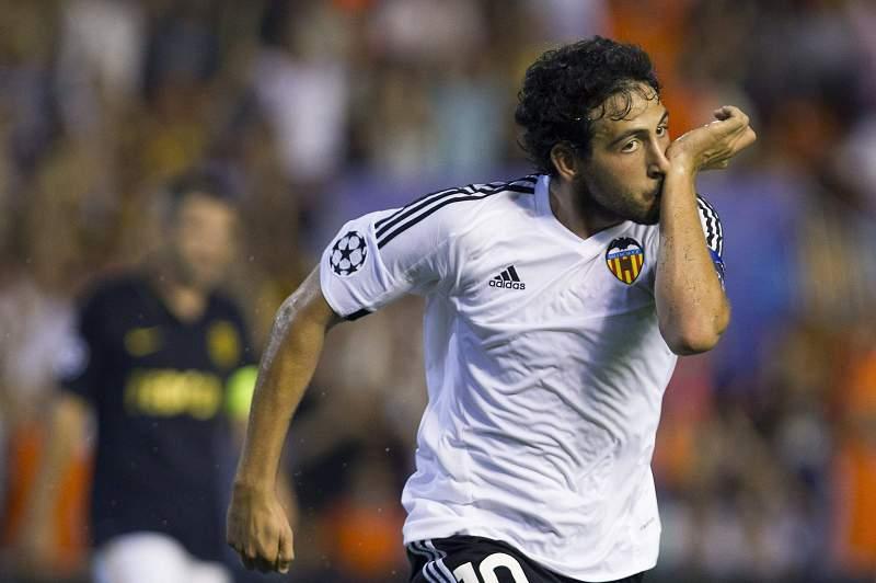 Dani Parejo celebra o golo marcado