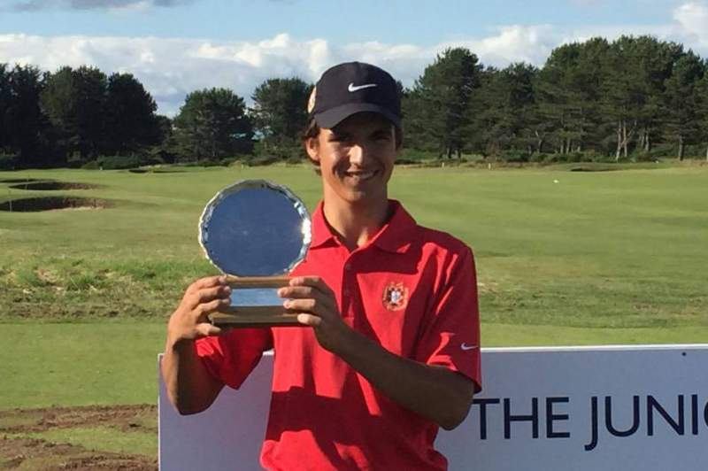 Golfista Pedro Lencart conquista Junior Open Championship na Escócia