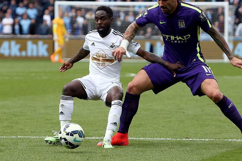 Nathan Dyer em ação pelo Swansea