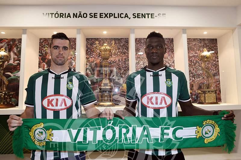 Tiago Valente e Salim Cissé satisfeitos no V. Setúbal