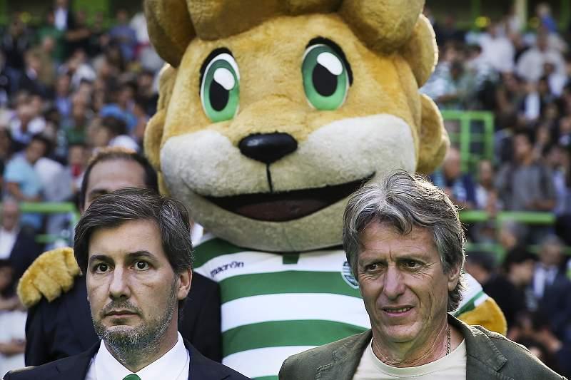 Bruno de Carvalho e Jorge Jesus nas comemorações do 110º aniversário do Sporting