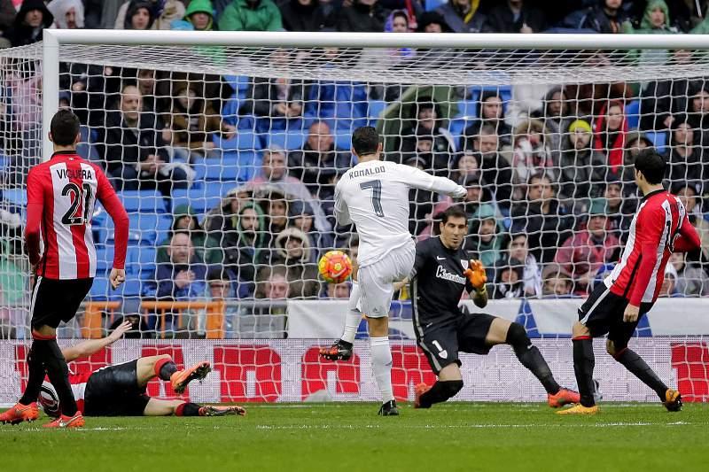 Ronaldo marcou dois golos ao Athletic Bilbao