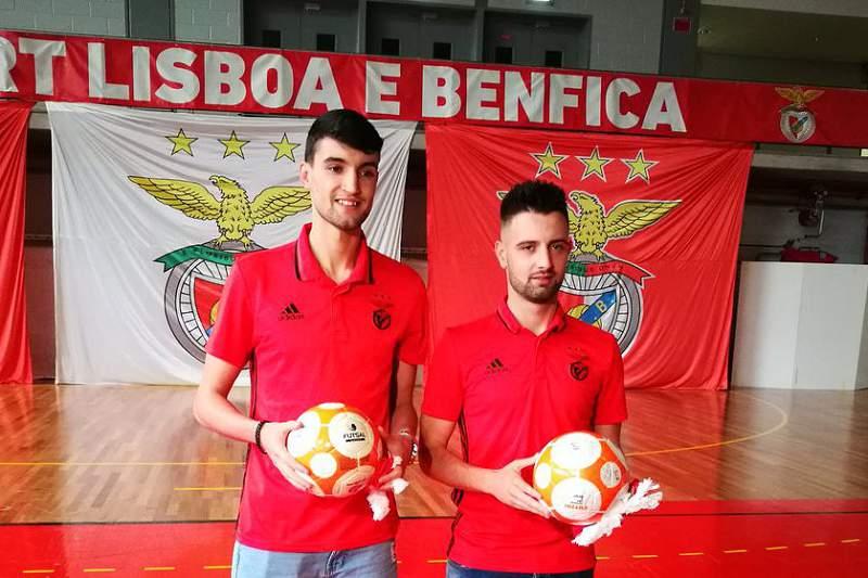 Tiago Brito e André Coelho são reforços do Benfica.