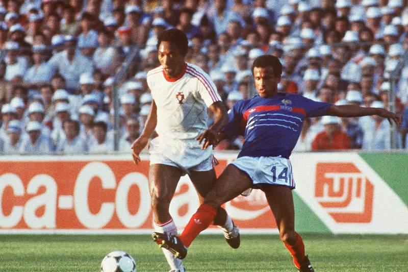 Jordão no França-Portugal no Euro1984