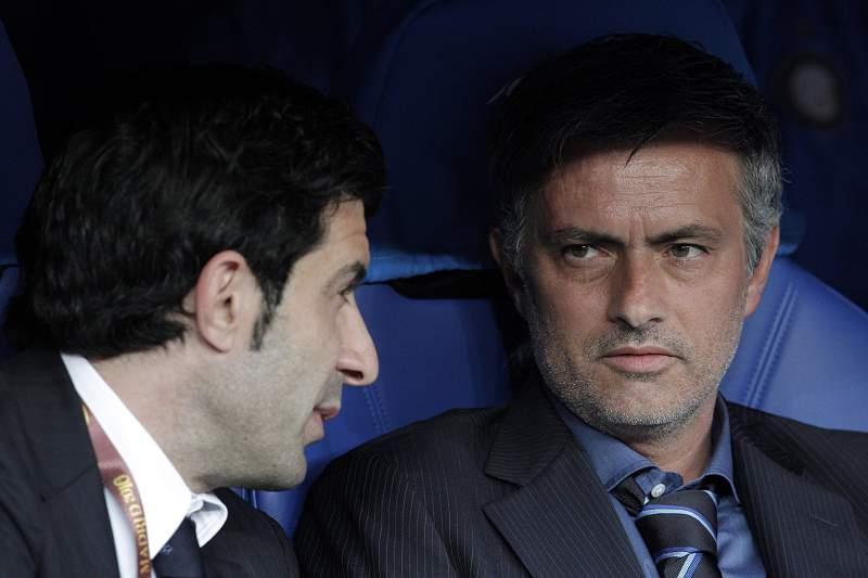 Luís Figo e José Mourinho