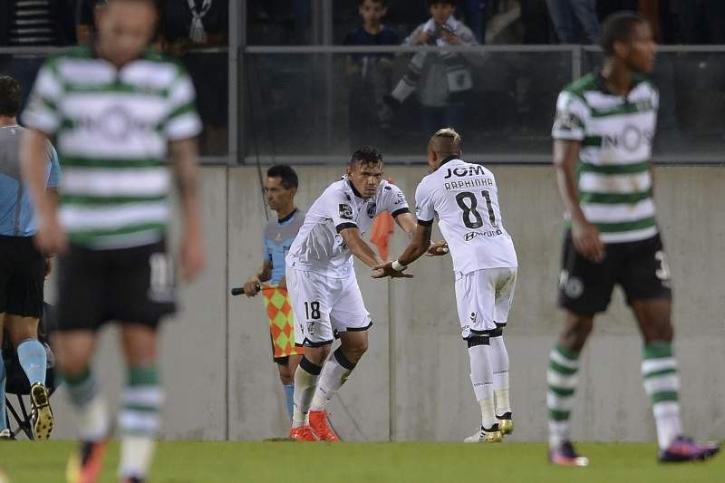 Soares celebra o golo do empate diante do Sporting