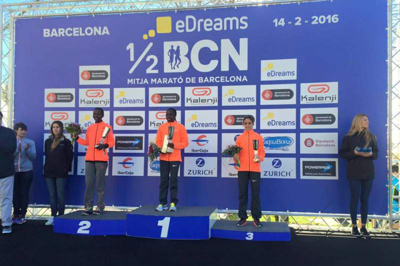 Jessica Augusto foi terceira na Meia-Maratona de Barcelona