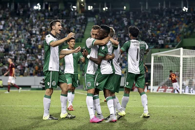 Sportinguistas celebram o golo de Carlos Mané