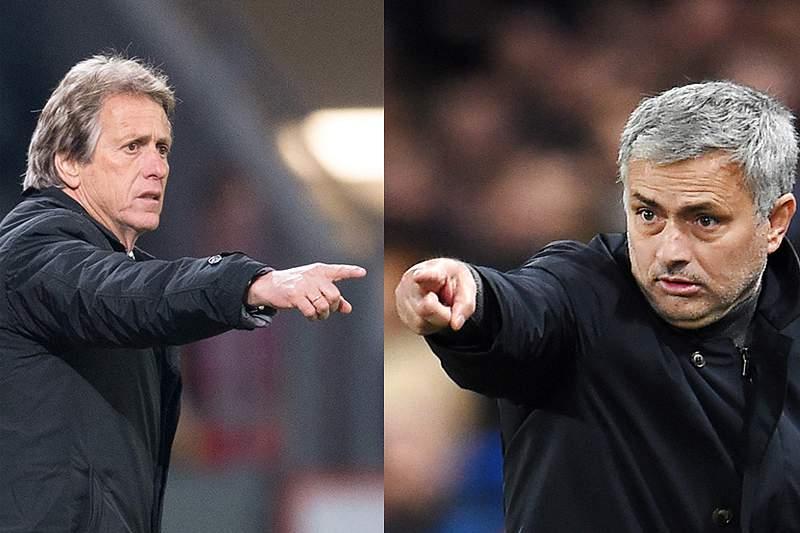 Jorge Jesus e José Mourinho