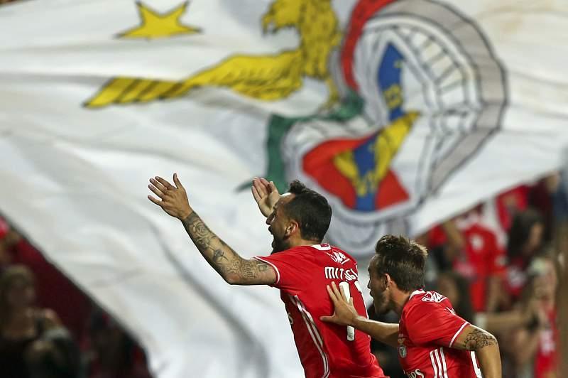 Mitroglou celebra um golo ao SC Braga