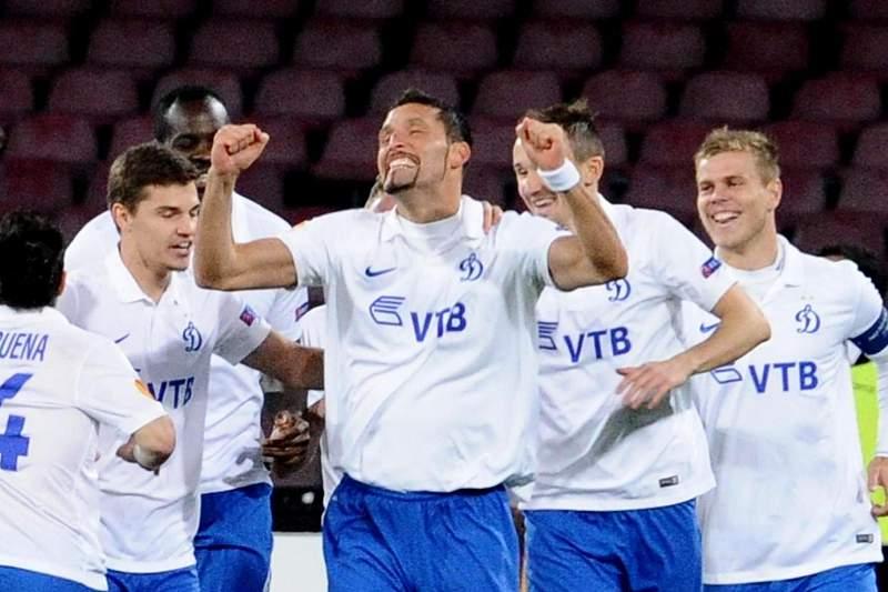 Kuranyi festeja golo pelo Dinamo Kiev