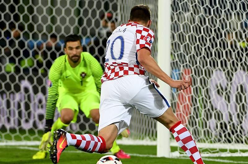 Marko Pjaca durante o Portugal - Croácia