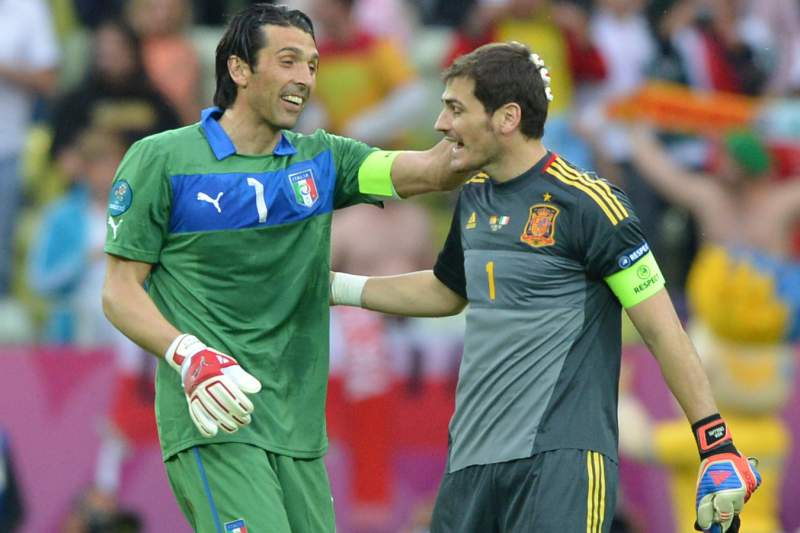 Buffon e Casillas