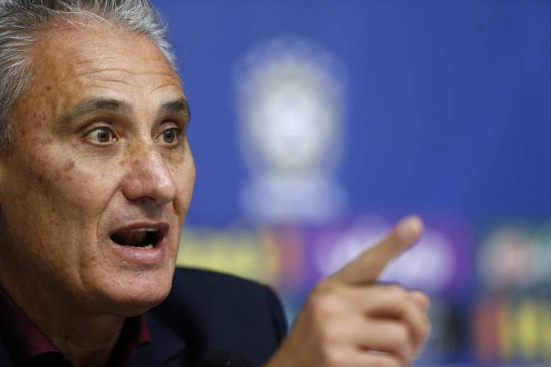 Brazil head coach Tite visits Olympic squad