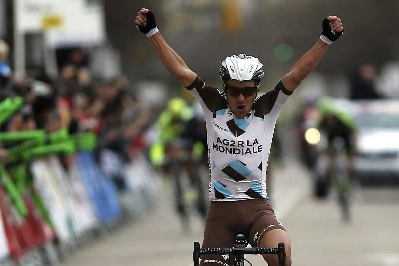 Italiano Domenico Pozzovivo celebra a vitória