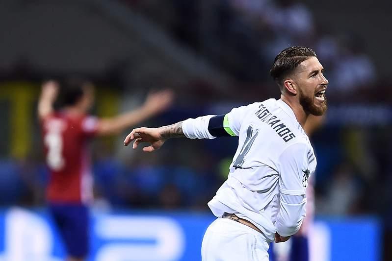 Sergio Ramos marca na final de Milão